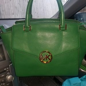 Green Michael Kors handbag